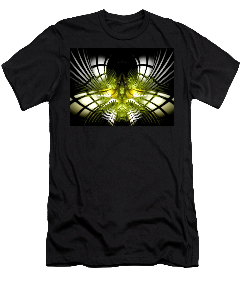 Fractal Men's T-Shirt (Athletic Fit) featuring the digital art Solar Greenhouse by Amorina Ashton