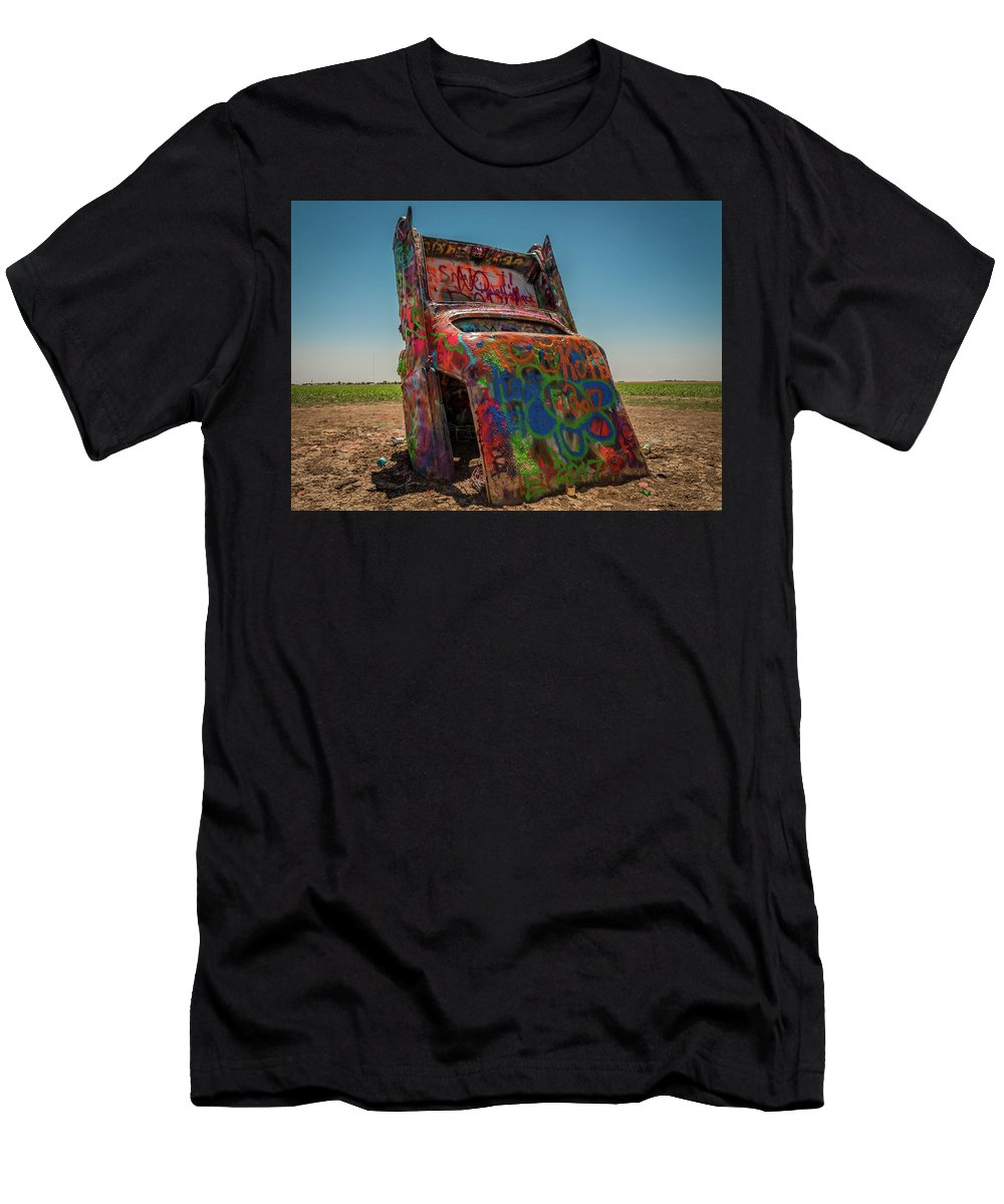 Cadillac Men's T-Shirt (Athletic Fit) featuring the photograph Solitary Burial by Vincent Asbjornsen