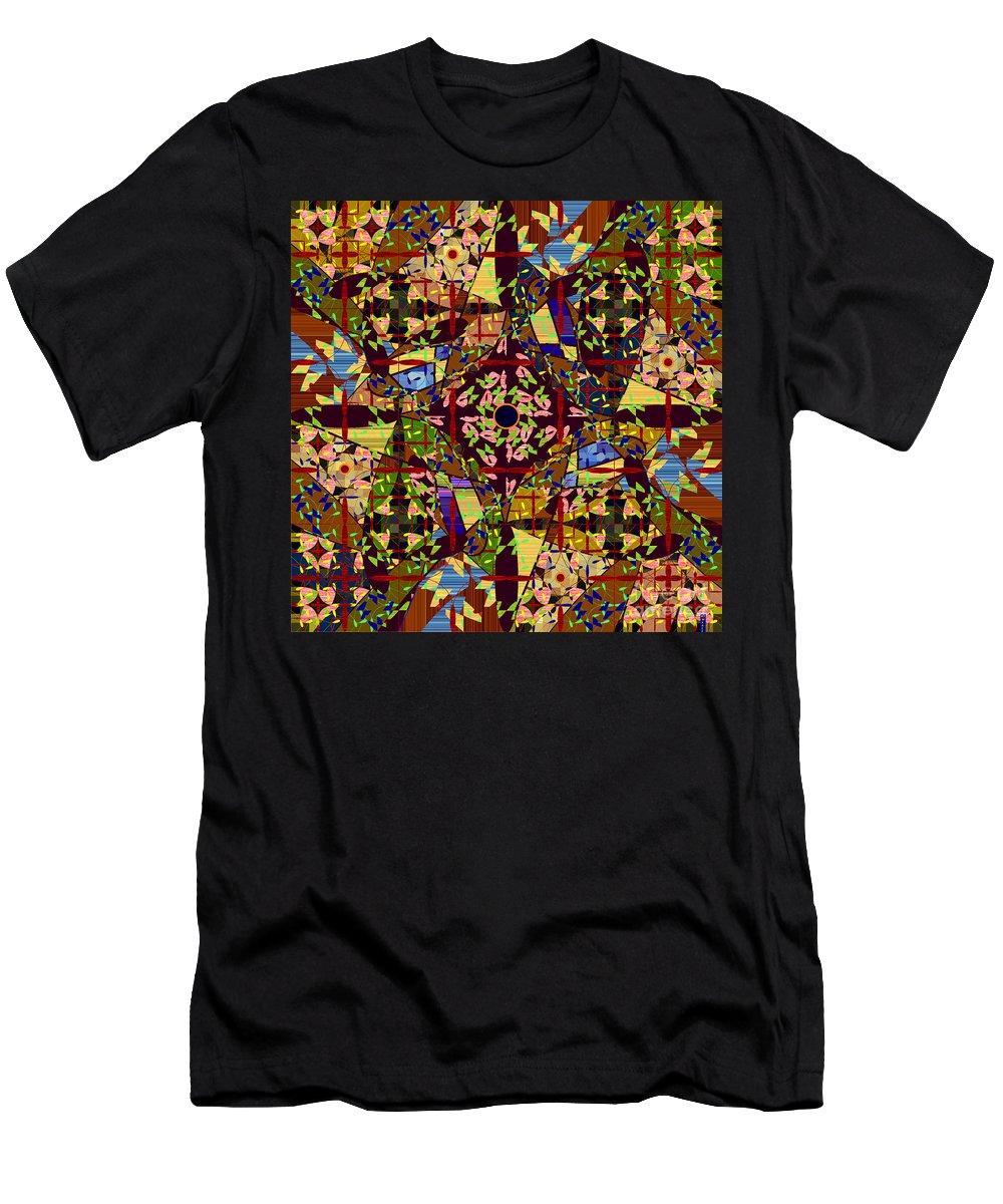 Mkatz Men's T-Shirt (Athletic Fit) featuring the digital art Some Harmonies And Tones 83 by MKatz Brandt