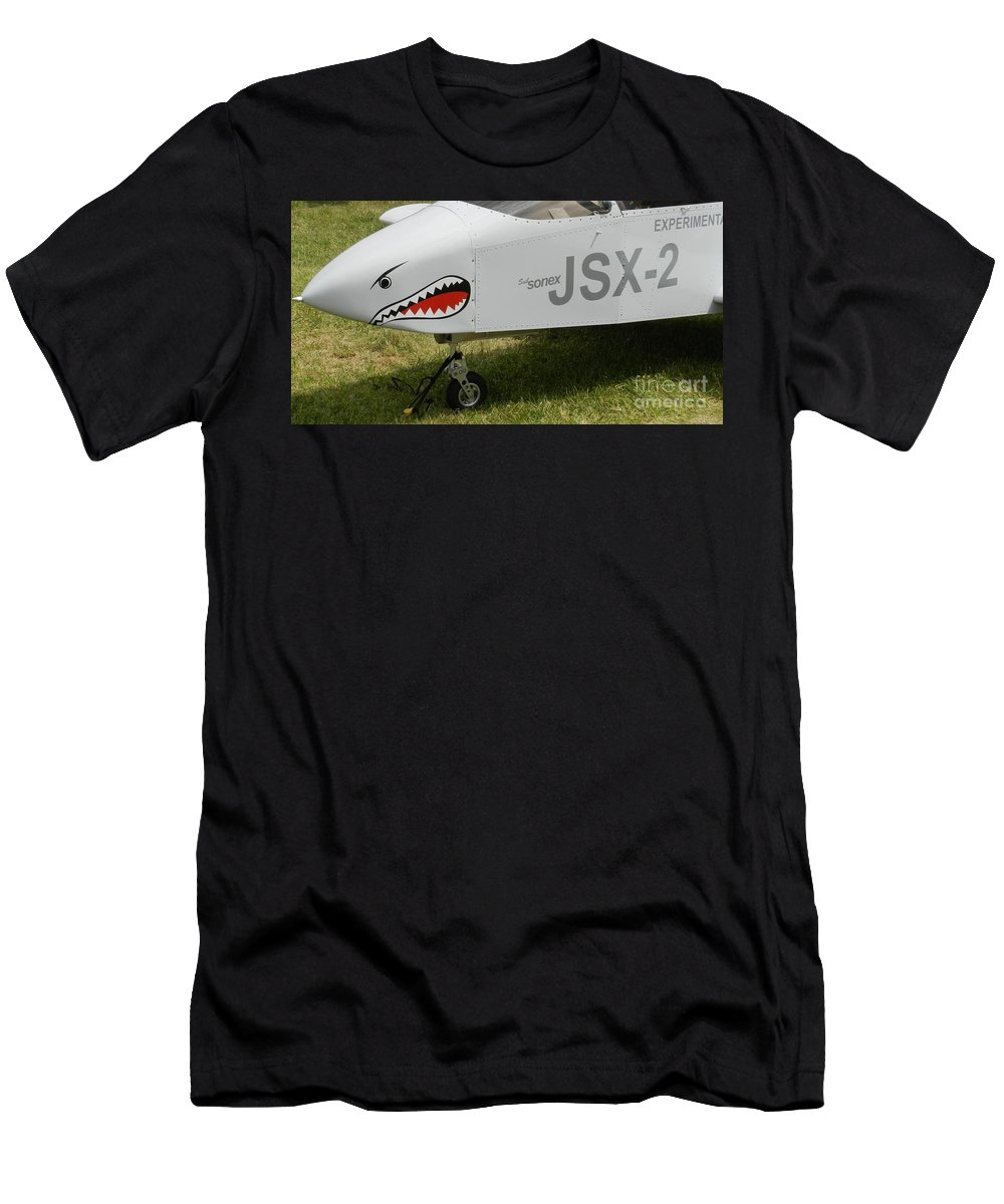 Sonex Experimental Aircraft Men's T-Shirt (Athletic Fit) featuring the photograph Sonex Experimental Aircraft by Snapshot Studio