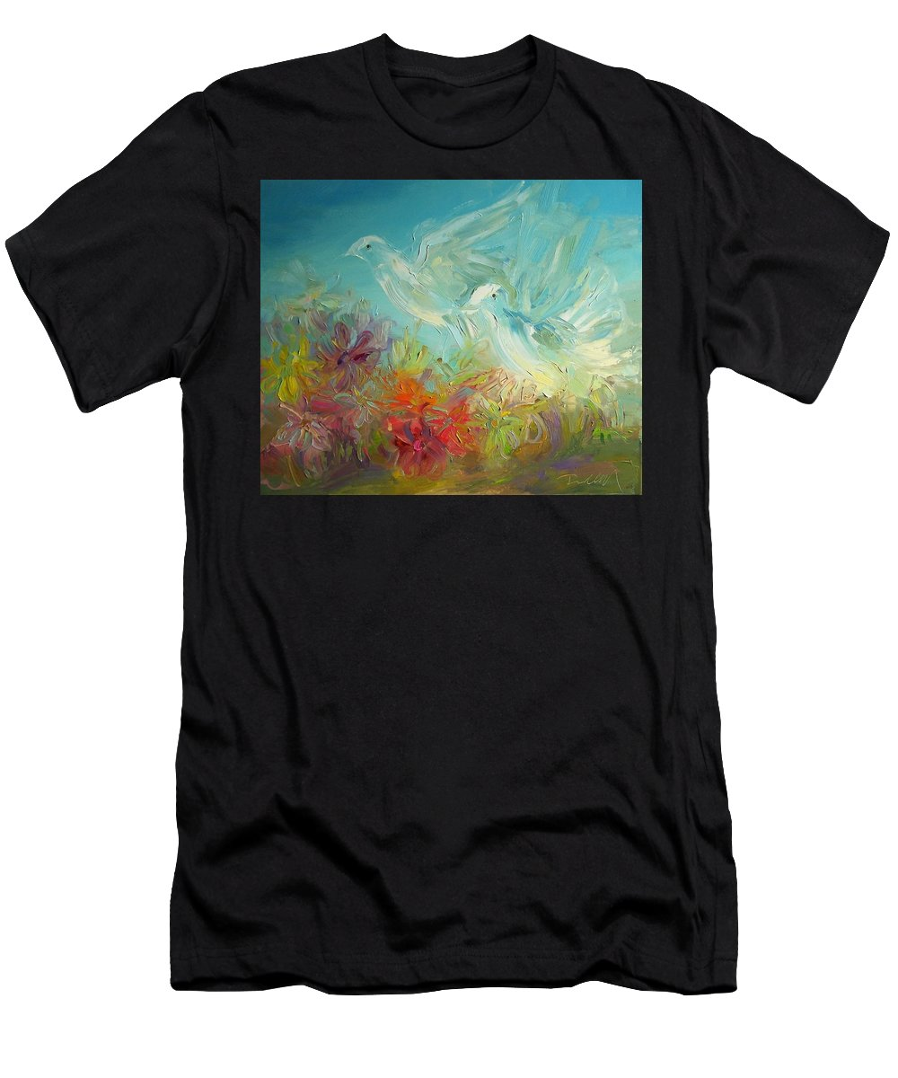 Bible Men's T-Shirt (Athletic Fit) featuring the painting Song Of Solomon 2 12 Holy Scripture by Roland Kay
