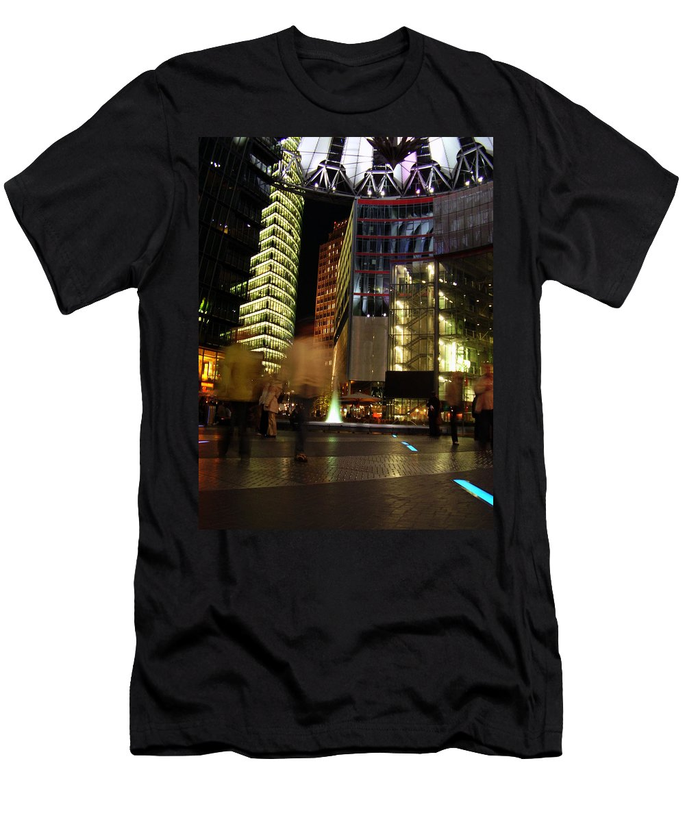 Sony Center Men's T-Shirt (Athletic Fit) featuring the photograph Sony Center by Flavia Westerwelle