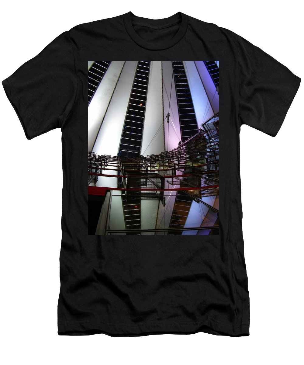 Sony Center Men's T-Shirt (Athletic Fit) featuring the photograph Sony Center II by Flavia Westerwelle