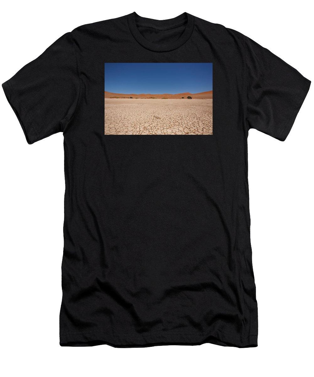 Kalahari Men's T-Shirt (Athletic Fit) featuring the photograph Sossuvlei by Davide Guidolin