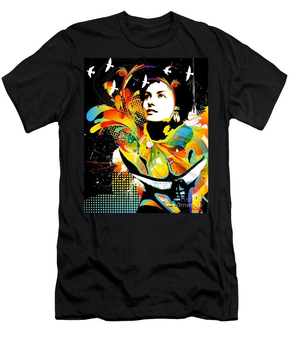 Nostalgic Seduction T-Shirt featuring the mixed media Nostalgic Seduction - Soul Explosion II by Chris Andruskiewicz