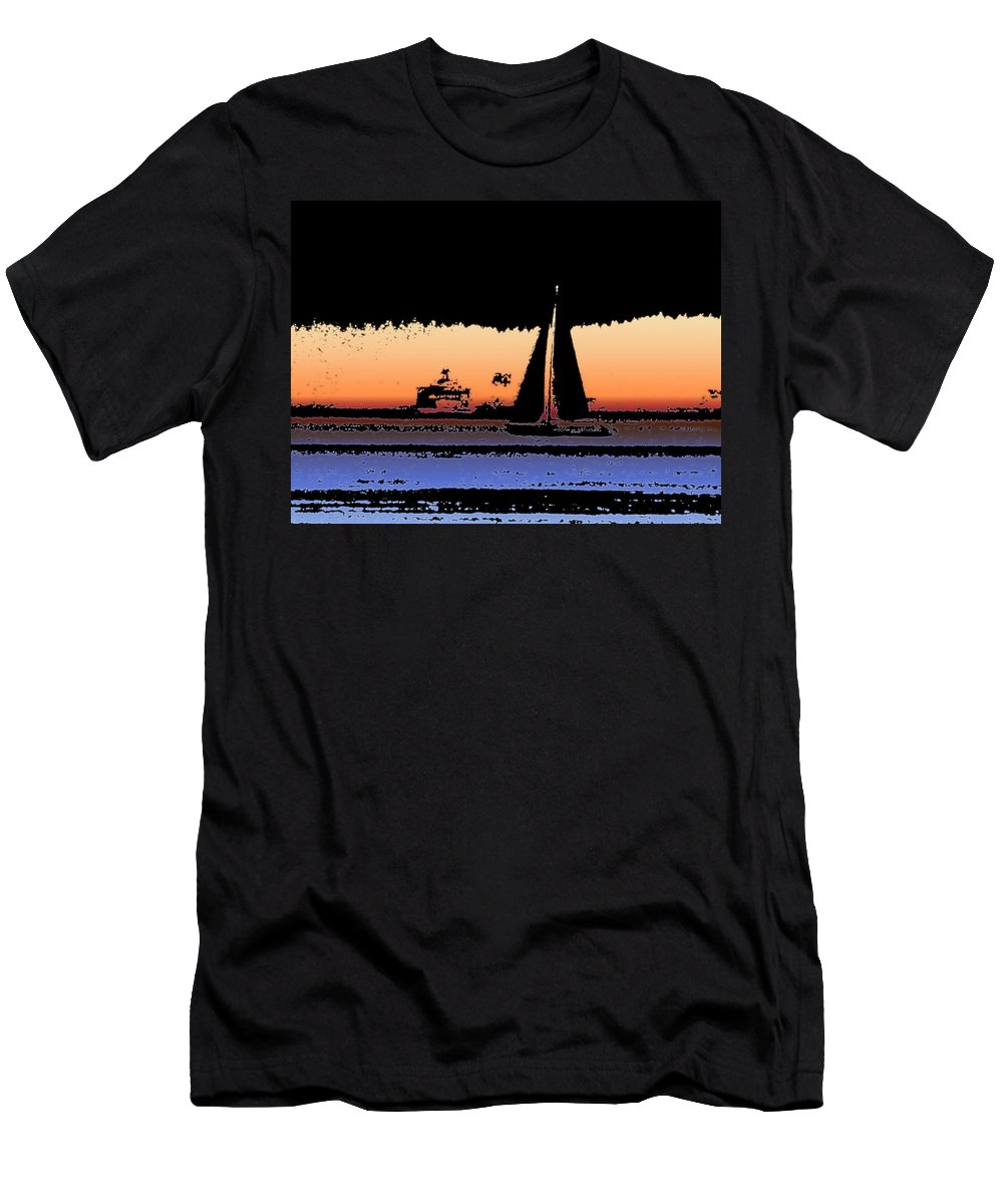 Seattle Men's T-Shirt (Athletic Fit) featuring the photograph Sound Sailin 2 by Tim Allen