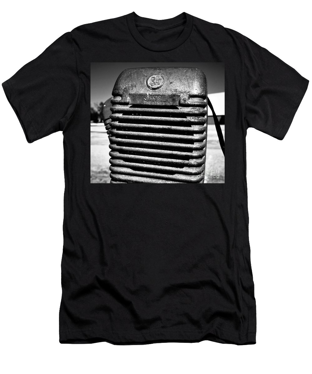 Drive In Movie Theatre Men's T-Shirt (Athletic Fit) featuring the photograph Sounds Of The Fifties by David Lee Thompson