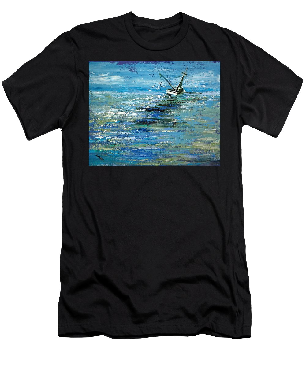 Acrylic Men's T-Shirt (Athletic Fit) featuring the painting Soups On by Suzanne McKee