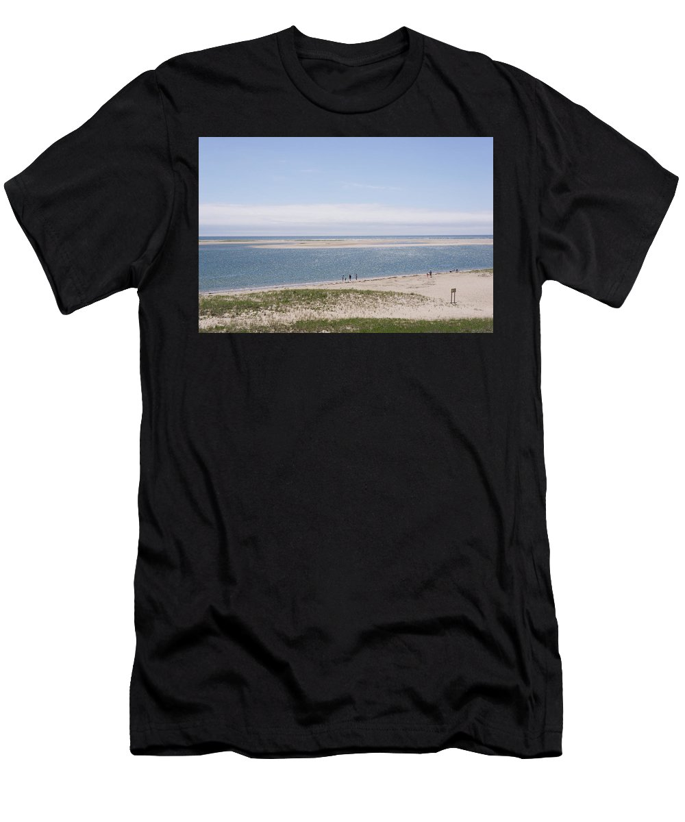 Beach Men's T-Shirt (Athletic Fit) featuring the photograph South Beach, Chatham Ma by Adam Gladstone