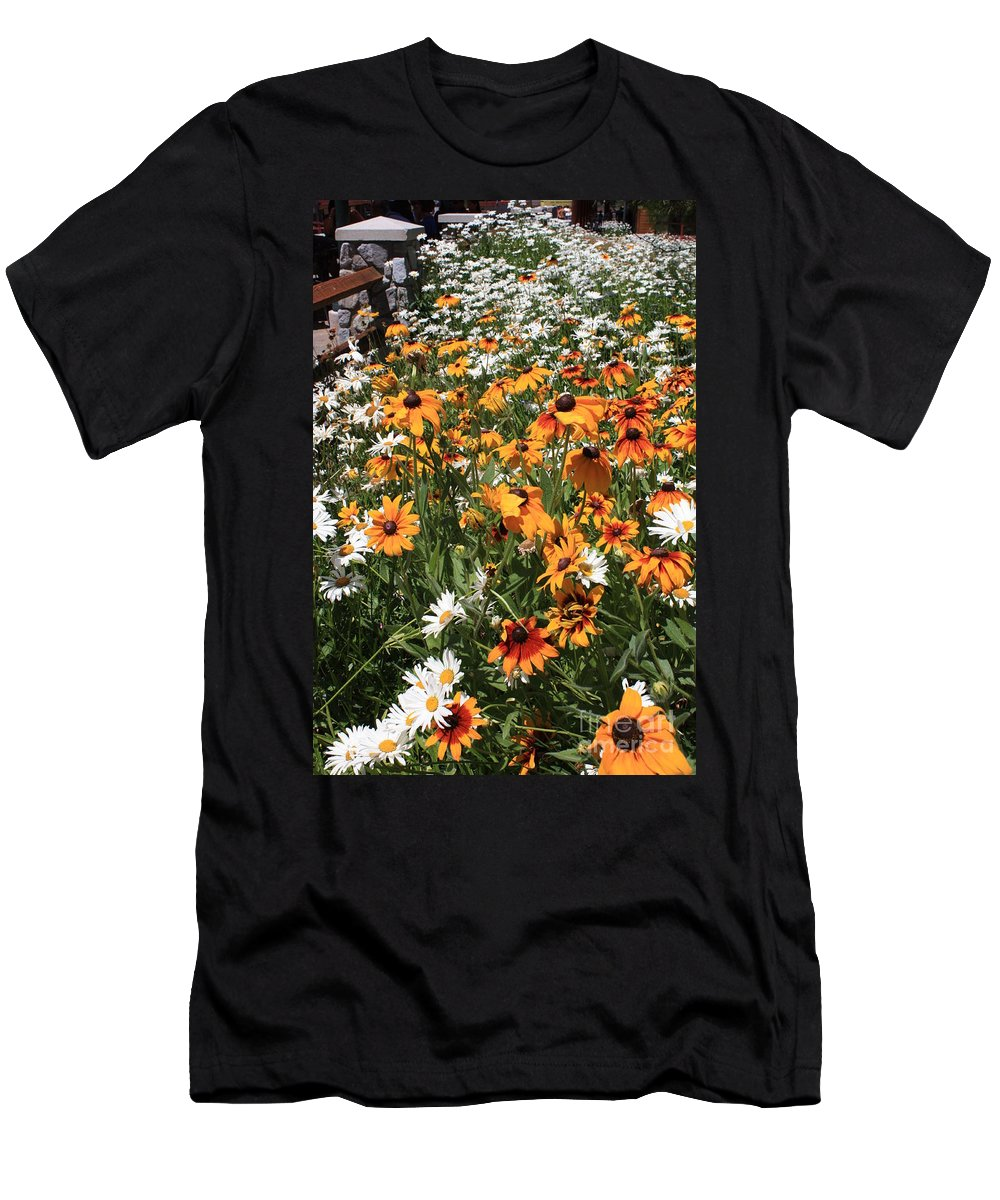 Flowers Men's T-Shirt (Athletic Fit) featuring the photograph South Lake Tahoe Flowers by Carol Groenen