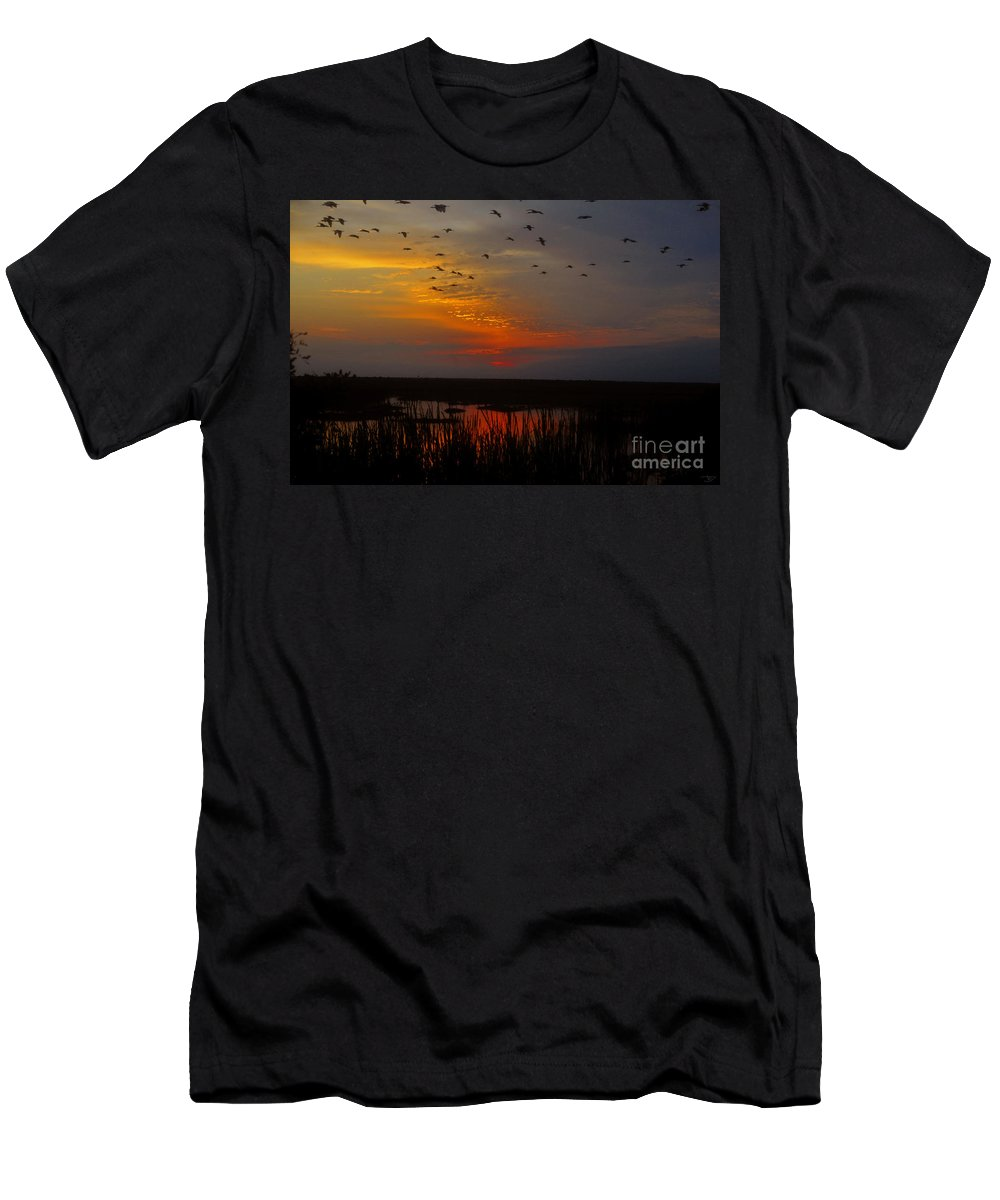 Southbound Men's T-Shirt (Athletic Fit) featuring the painting Southbound by David Lee Thompson