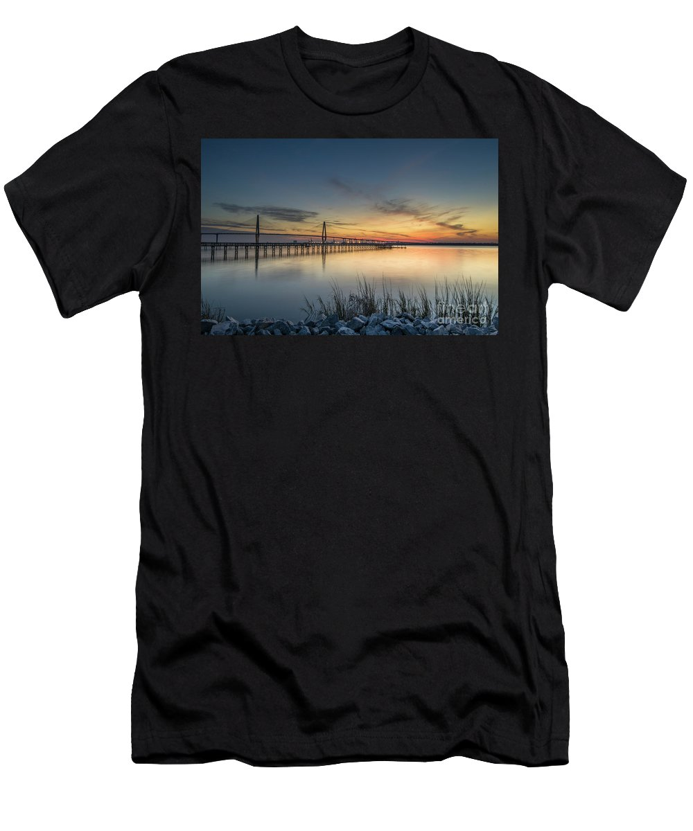 Cooper River Bridge Men's T-Shirt (Athletic Fit) featuring the photograph Southern Allure by Dale Powell