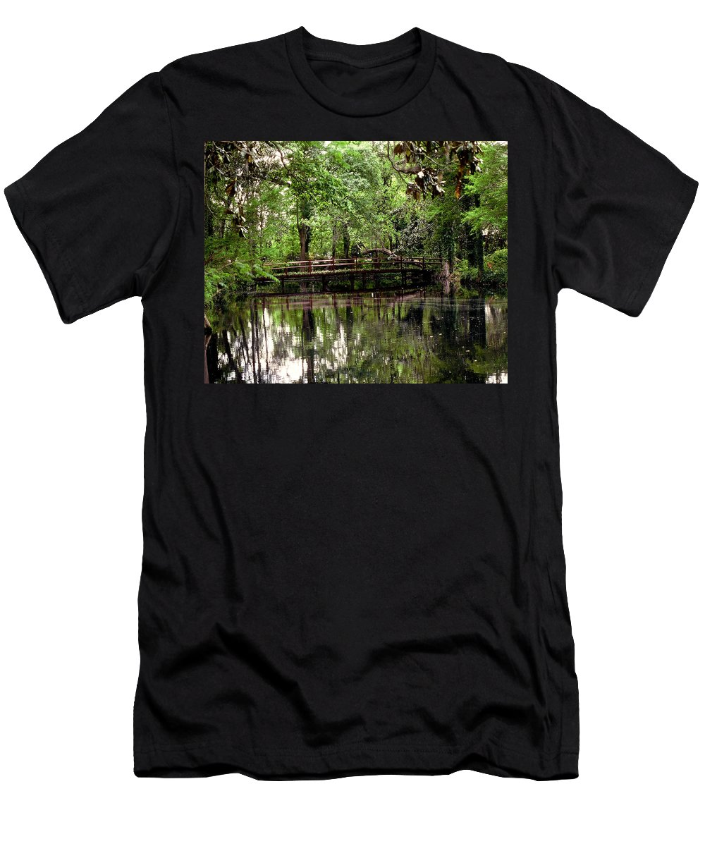 Bridge Men's T-Shirt (Athletic Fit) featuring the photograph Plantation Living by Gary Wonning