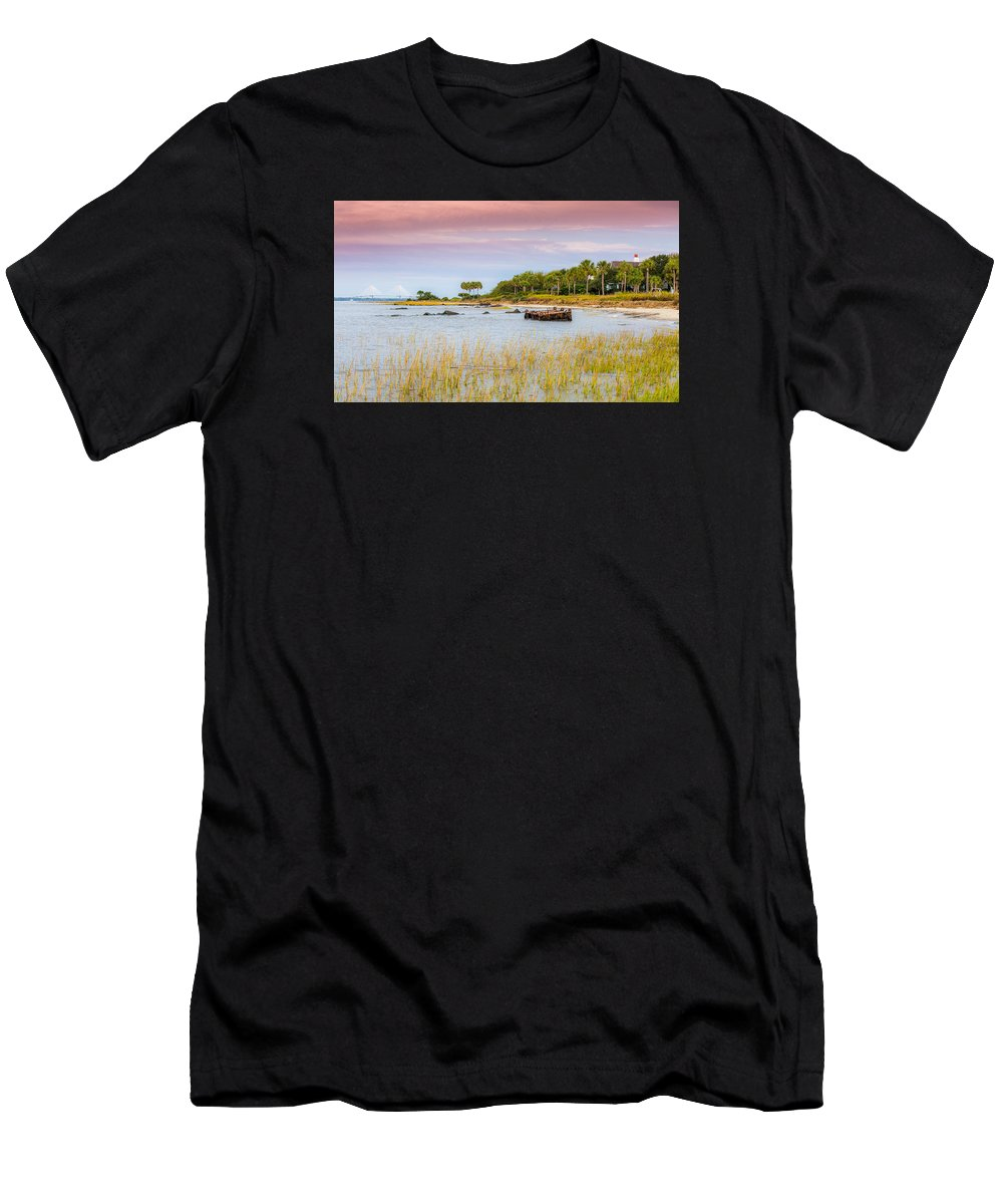 Sullivan's Island Men's T-Shirt (Athletic Fit) featuring the photograph Southern Living - Sullivan's Island Sc by Donnie Whitaker