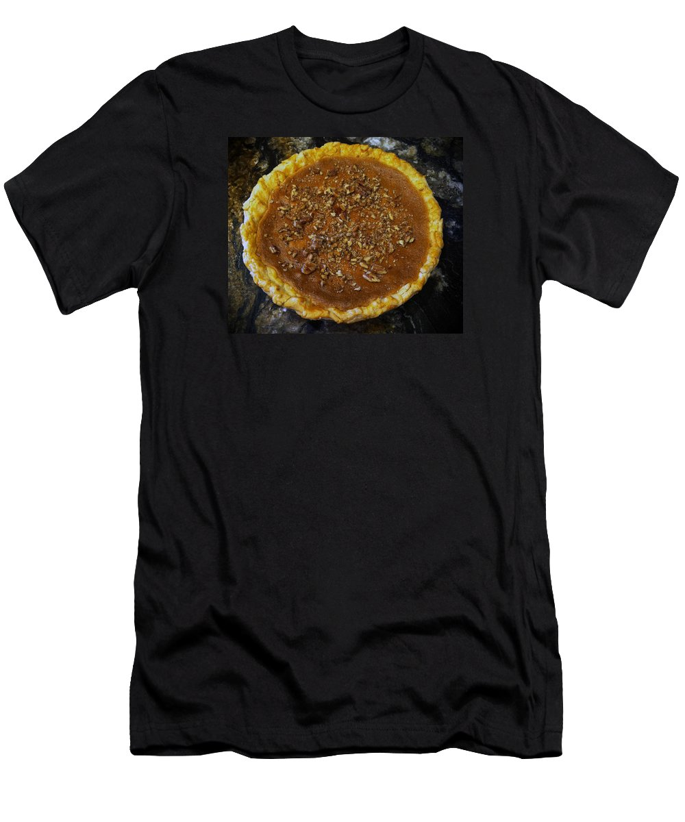 Pecan Pie Men's T-Shirt (Athletic Fit) featuring the photograph Southern Pecan Pie by Rachel Knight