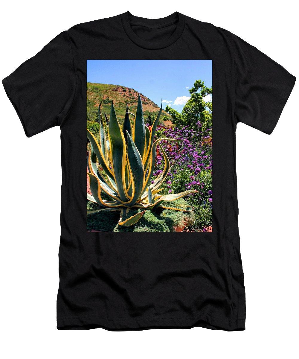 Cactus Men's T-Shirt (Athletic Fit) featuring the photograph Southwest Arrangement by Kristin Elmquist
