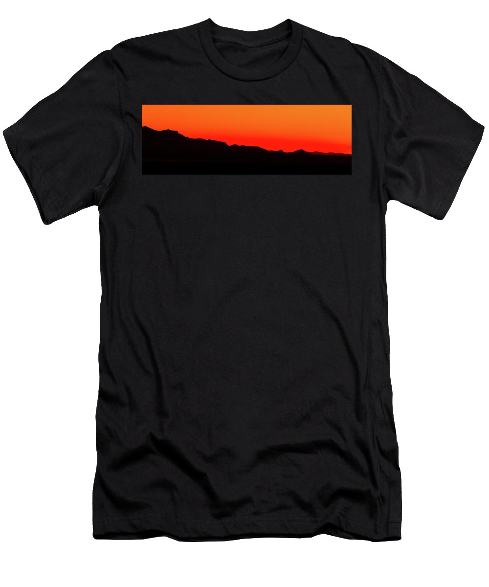 Texas Men's T-Shirt (Athletic Fit) featuring the photograph Southwest Texas Sunset Panorama by SR Green