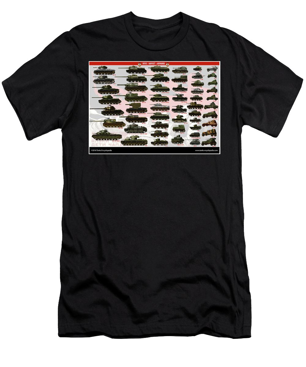 Soviet T-Shirt featuring the digital art Soviet Tanks ww2 by The collectioner