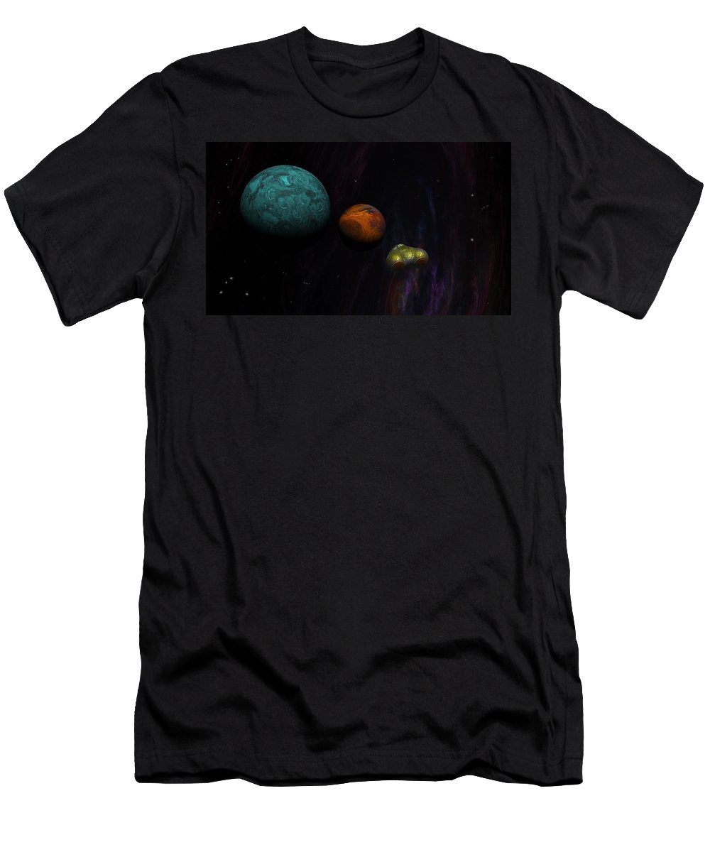 Digital Painting Men's T-Shirt (Athletic Fit) featuring the digital art Space 01-26-10 by David Lane