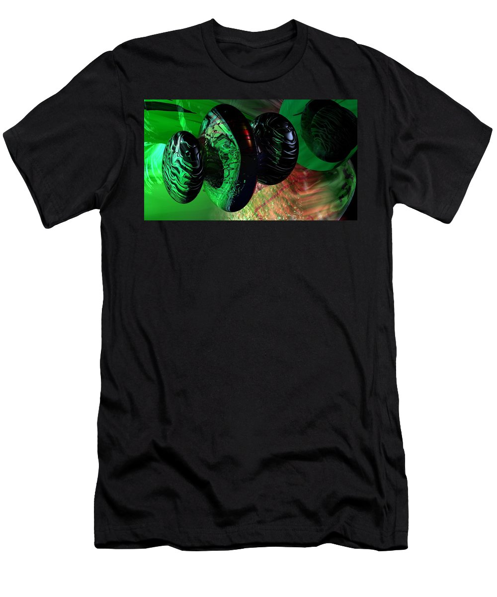 Space Art Men's T-Shirt (Athletic Fit) featuring the digital art Space Reflections by David Lane