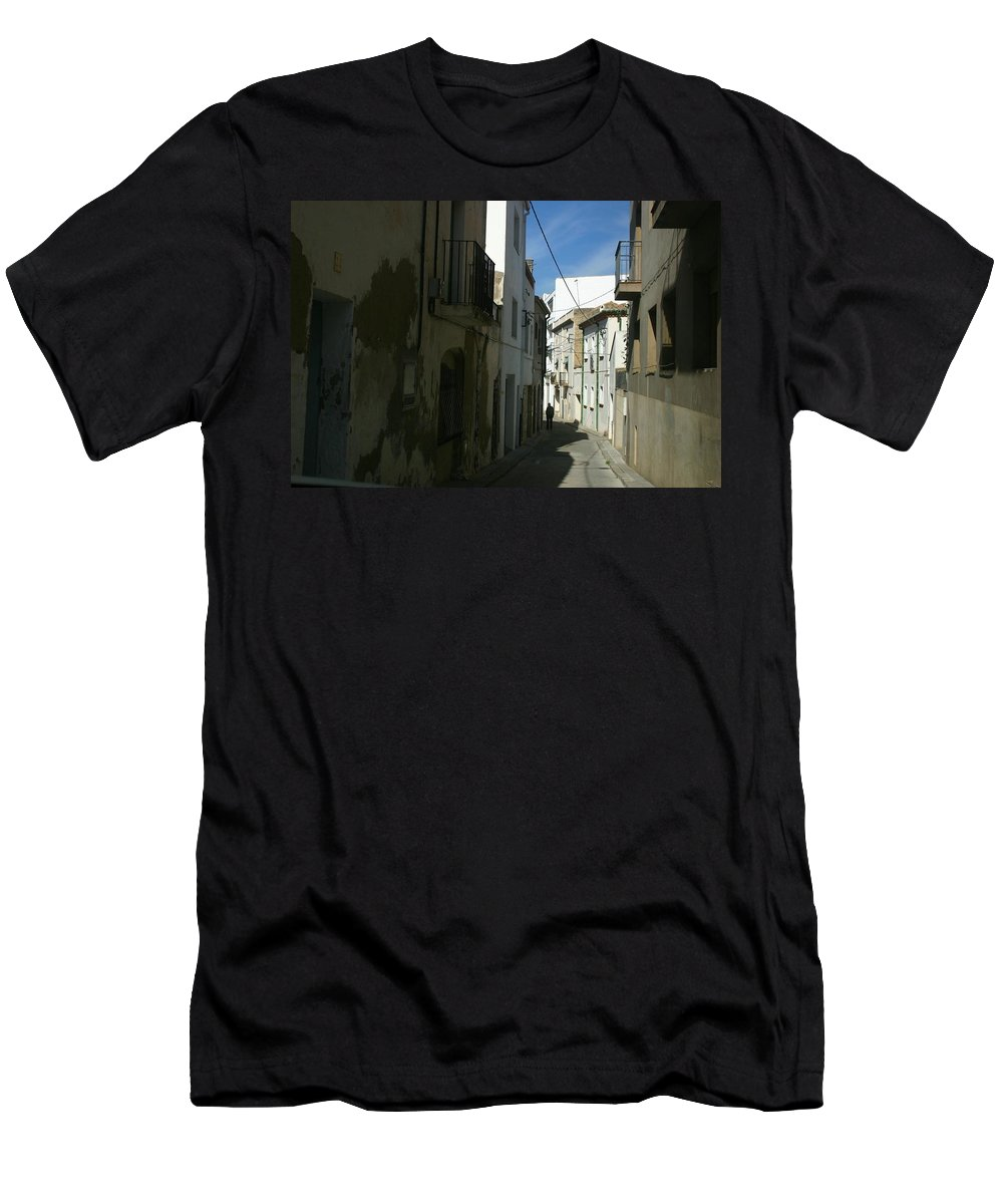 Spain Men's T-Shirt (Athletic Fit) featuring the photograph Spain One Way by Minaz Jantz
