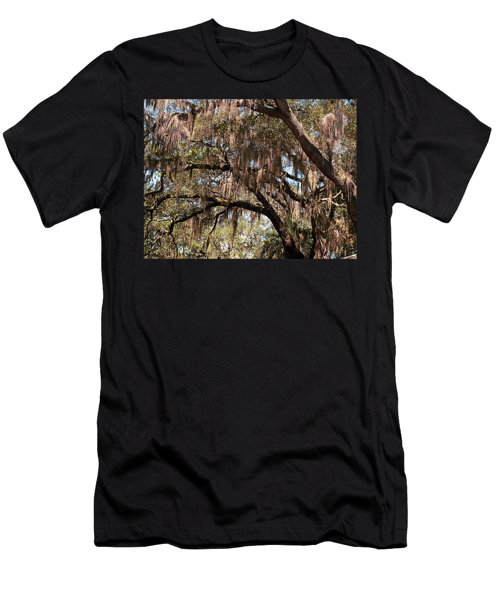 Spanish Moss Men's T-Shirt (Athletic Fit) featuring the photograph Spanish Moss by Bob Johnson