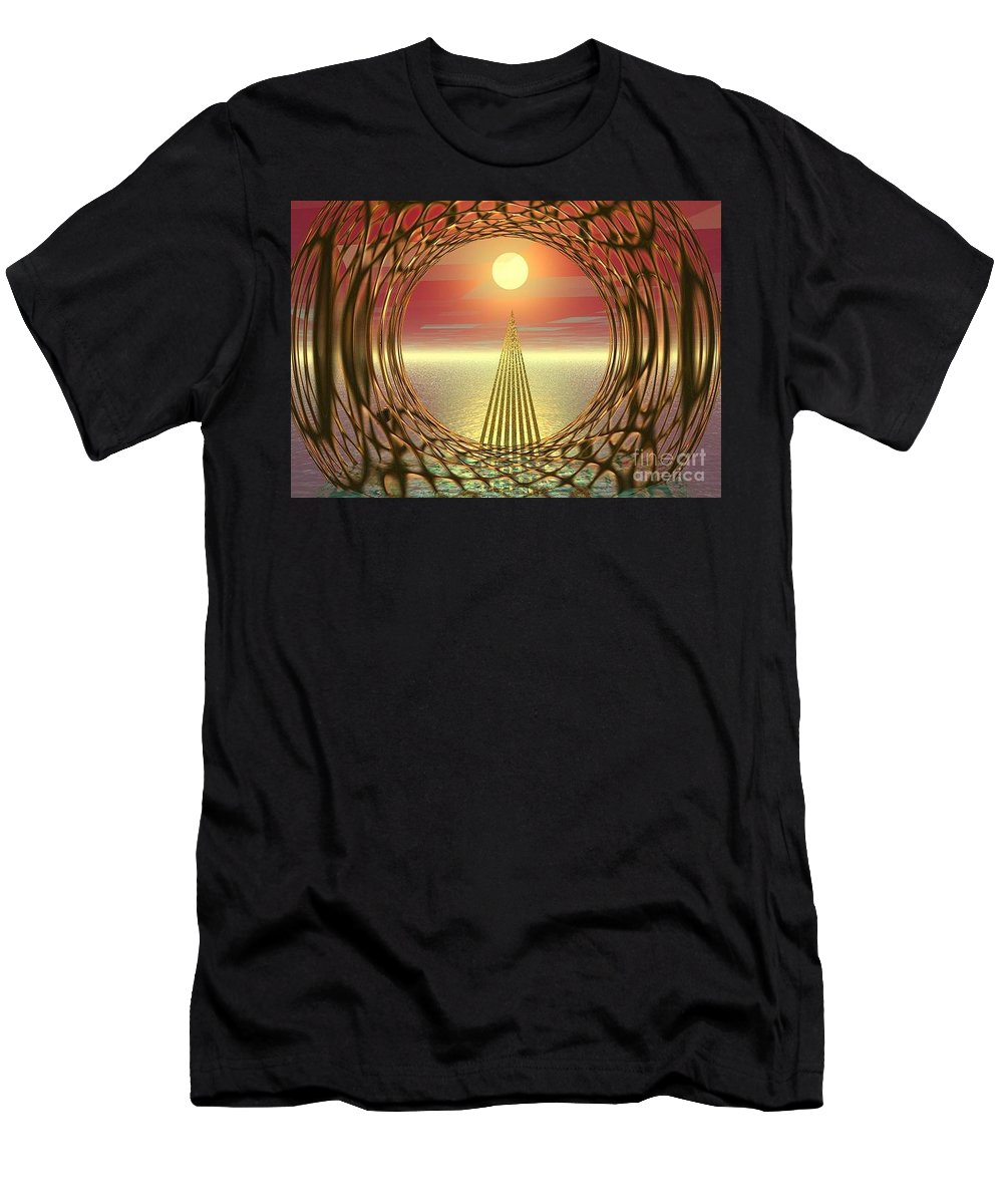 Abstract Men's T-Shirt (Athletic Fit) featuring the digital art Sparkles Of Light by Oscar Basurto Carbonell