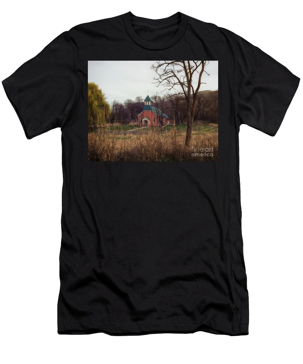 Men's T-Shirt (Athletic Fit) featuring the photograph Spaulding Church by Marcia Darby