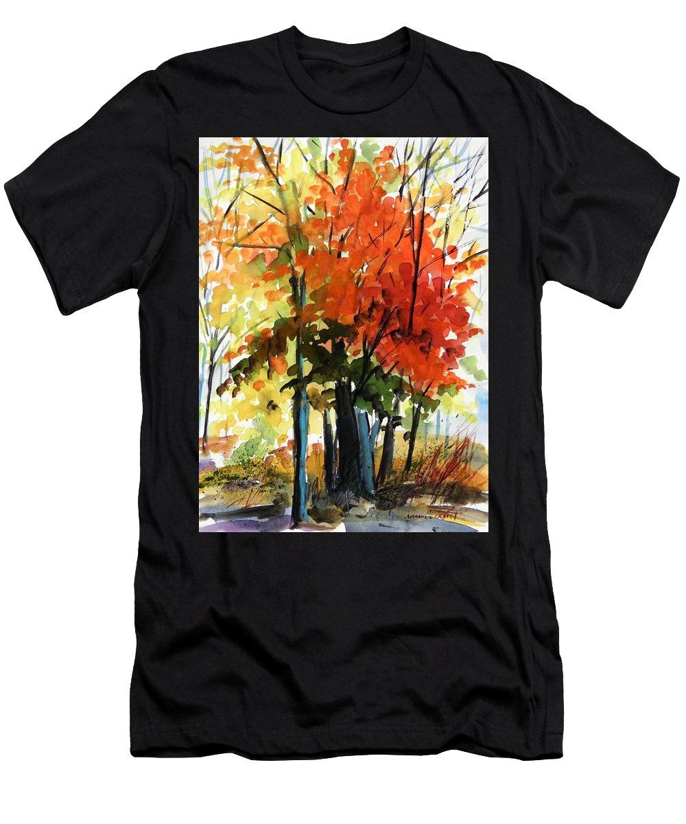 Trees Men's T-Shirt (Athletic Fit) featuring the painting Spectacular by John Williams