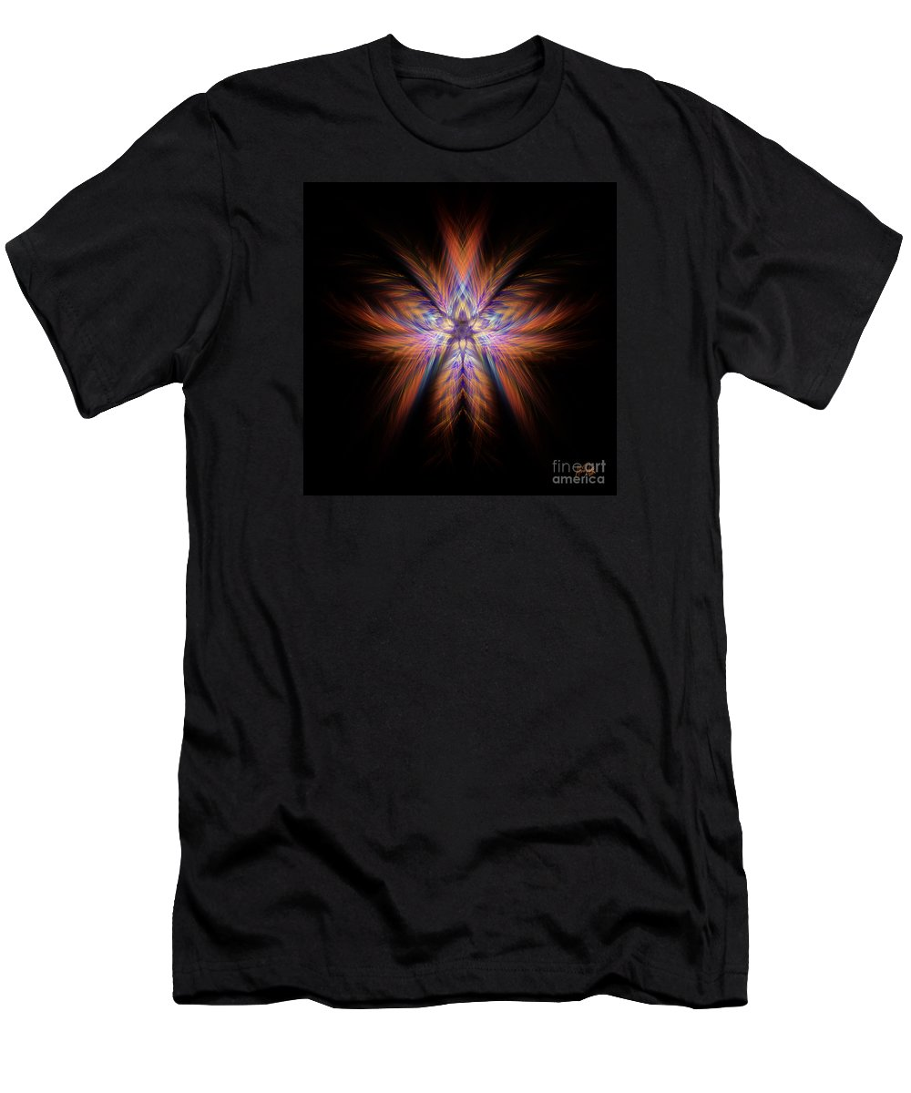 Colour Men's T-Shirt (Athletic Fit) featuring the digital art Spectra by Alina Davis