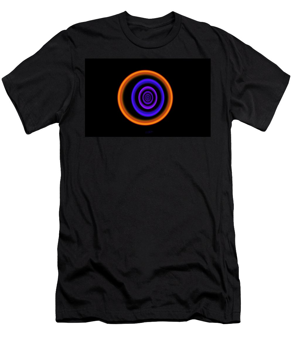 Abstract Black Men's T-Shirt (Athletic Fit) featuring the painting Spectrum by Charles Stuart