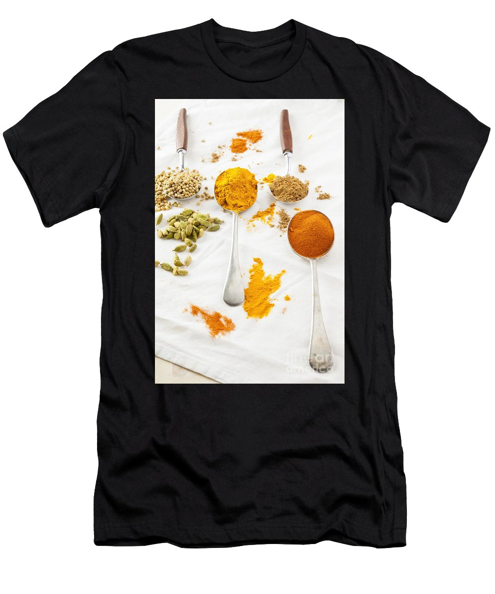 Curry Men's T-Shirt (Athletic Fit) featuring the photograph Spices by Julie Woodhouse