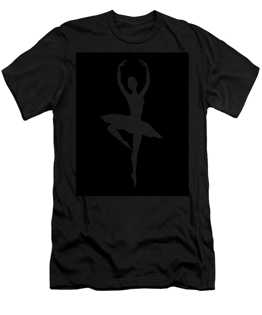 Ballerina Men's T-Shirt (Athletic Fit) featuring the painting Spin Of Ballerina Silhouette by Irina Sztukowski