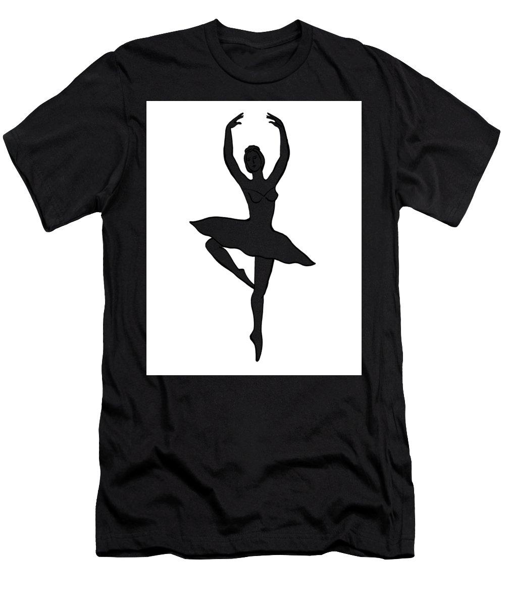 21cb7f175 Spinning Ballerina Silhouette T-Shirt for Sale by Irina Sztukowski