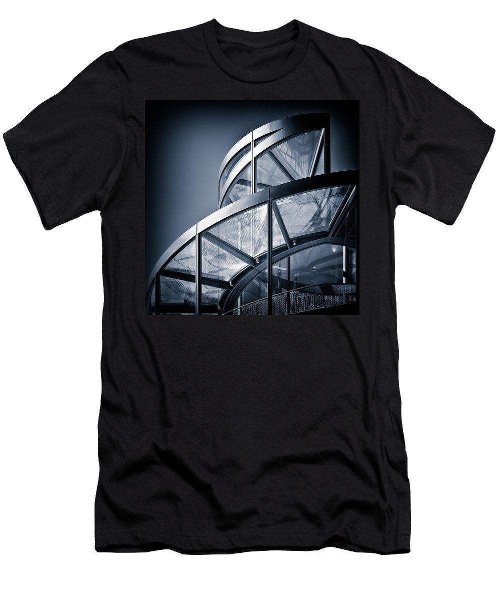 Spiral Men's T-Shirt (Athletic Fit) featuring the photograph Spiral Staircase by Dave Bowman