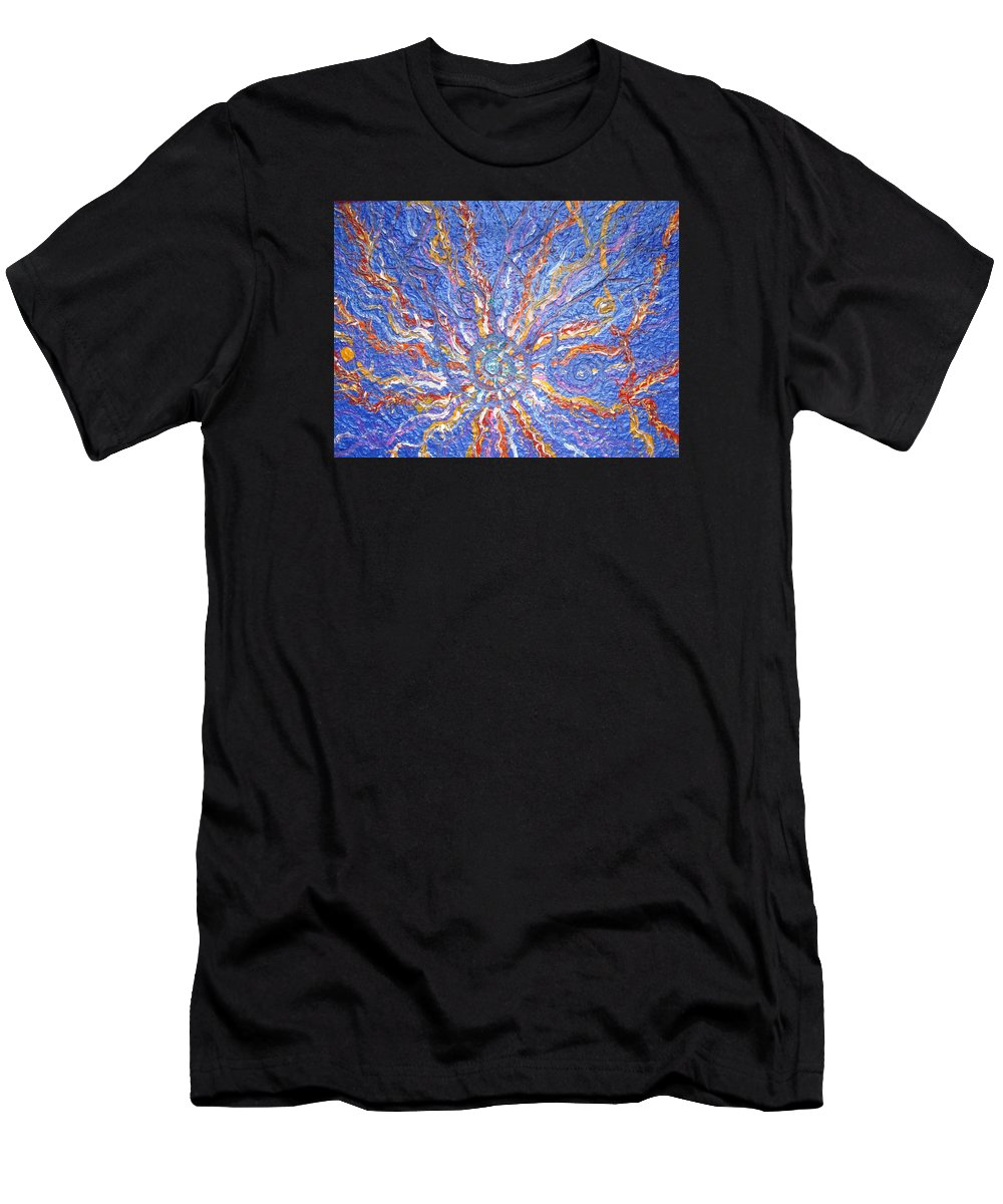 Spiritual Symbol Men's T-Shirt (Athletic Fit) featuring the painting Spirale Money Magnet by Joanna Pilatowicz