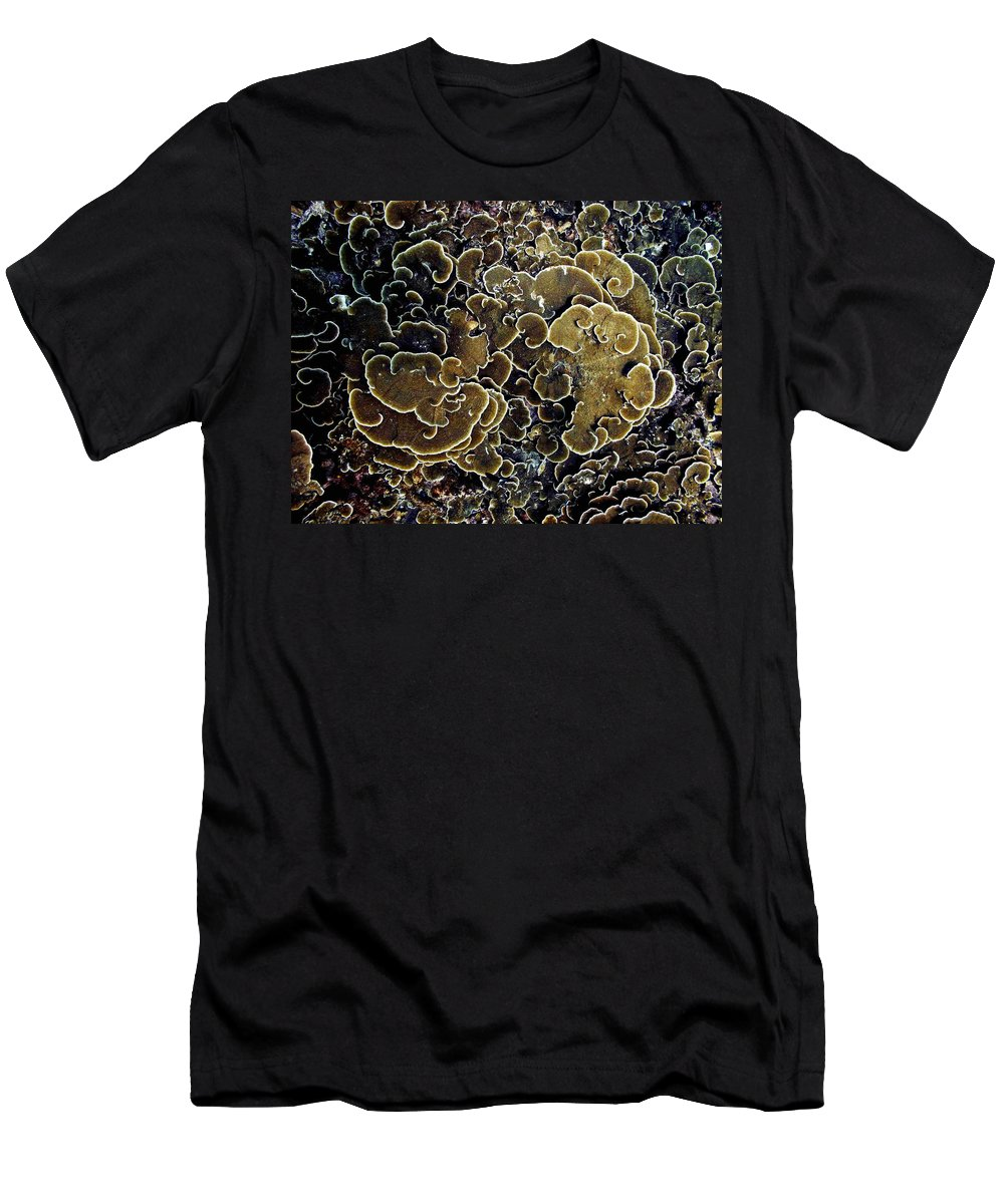 Corals Men's T-Shirt (Athletic Fit) featuring the photograph Spirals In Corals by Dragica Micki Fortuna