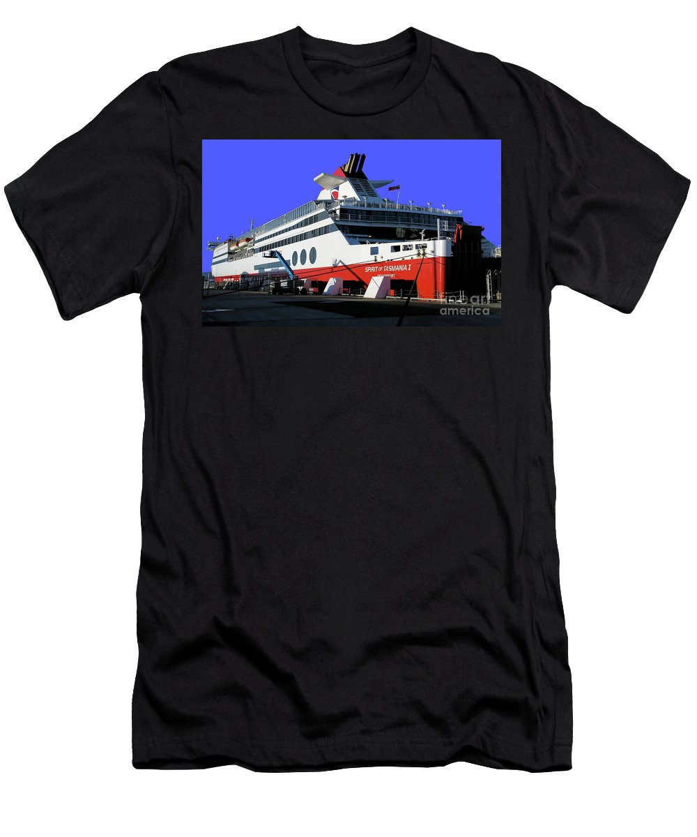 Digital Color Photo Men's T-Shirt (Athletic Fit) featuring the photograph Spirit Of Tasmania by Tim Richards