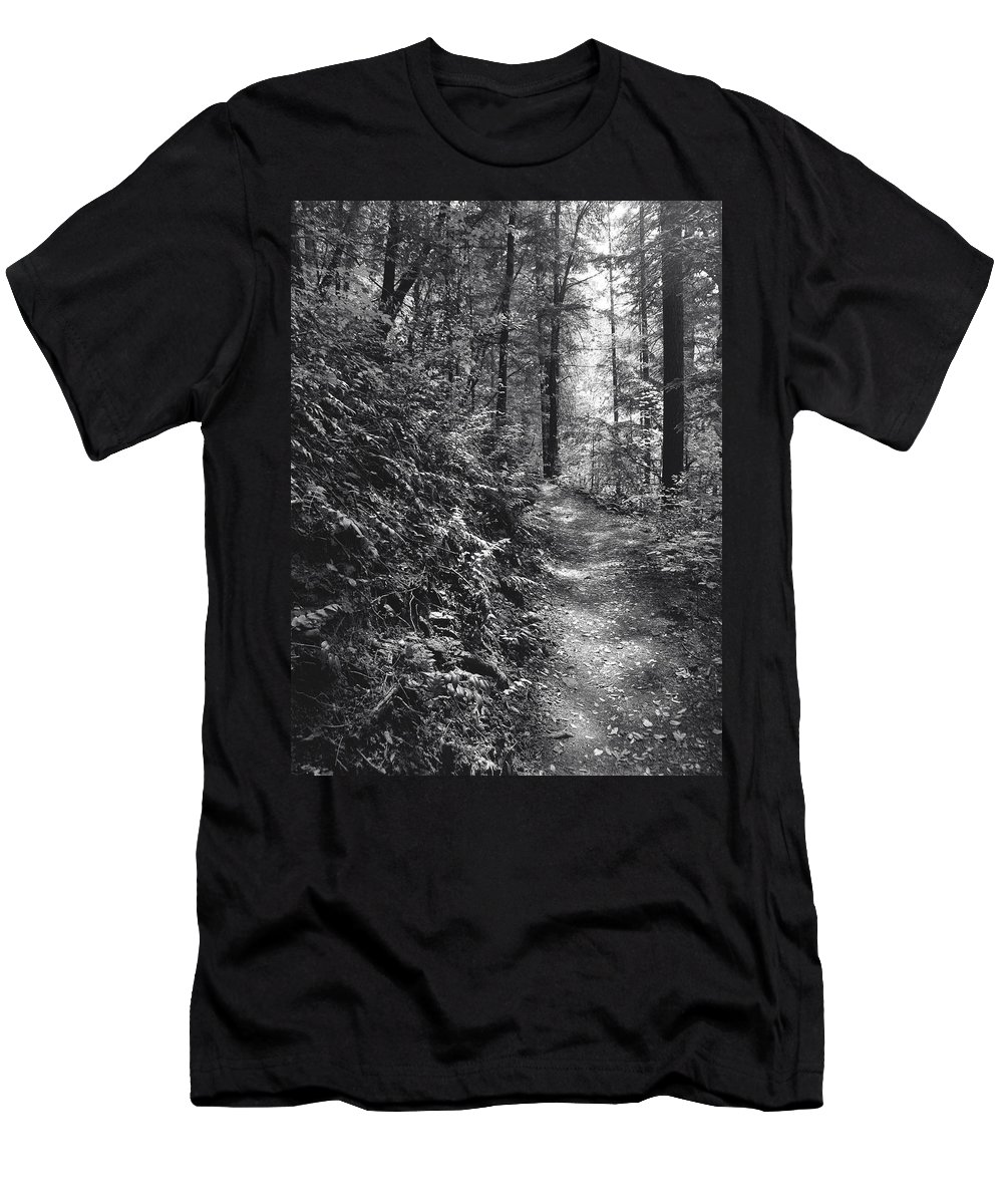 Landscape Men's T-Shirt (Athletic Fit) featuring the photograph Spirit Of The Wood by Karen W Meyer