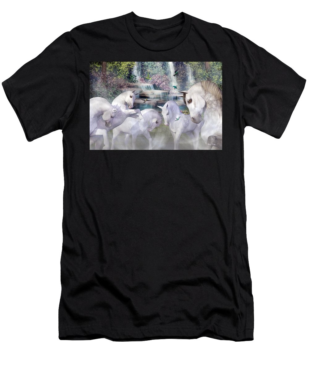 Horse Men's T-Shirt (Athletic Fit) featuring the digital art Spiritual Harmony by Betsy Knapp
