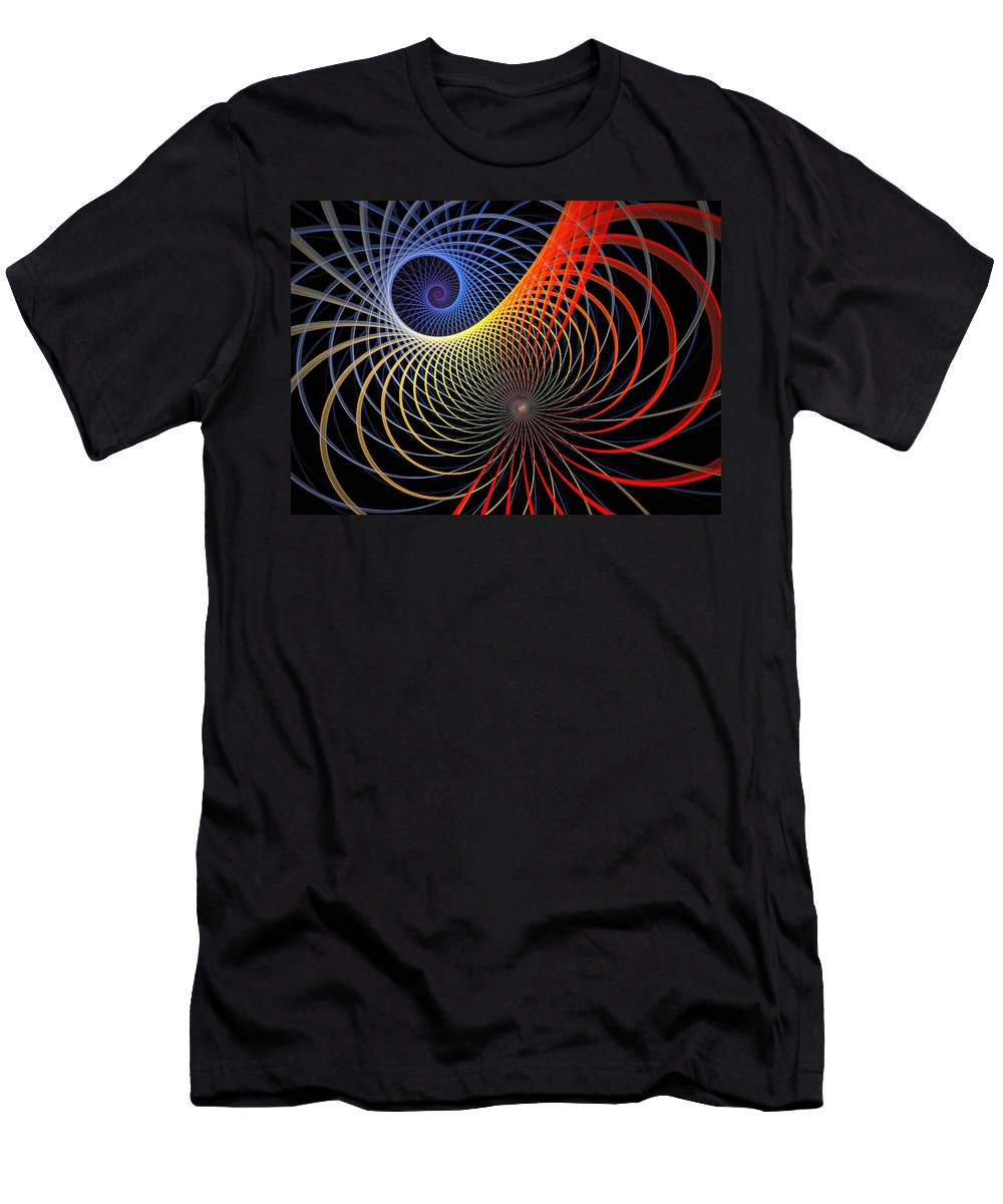 Digital Art Men's T-Shirt (Athletic Fit) featuring the digital art Spirograph by Amanda Moore