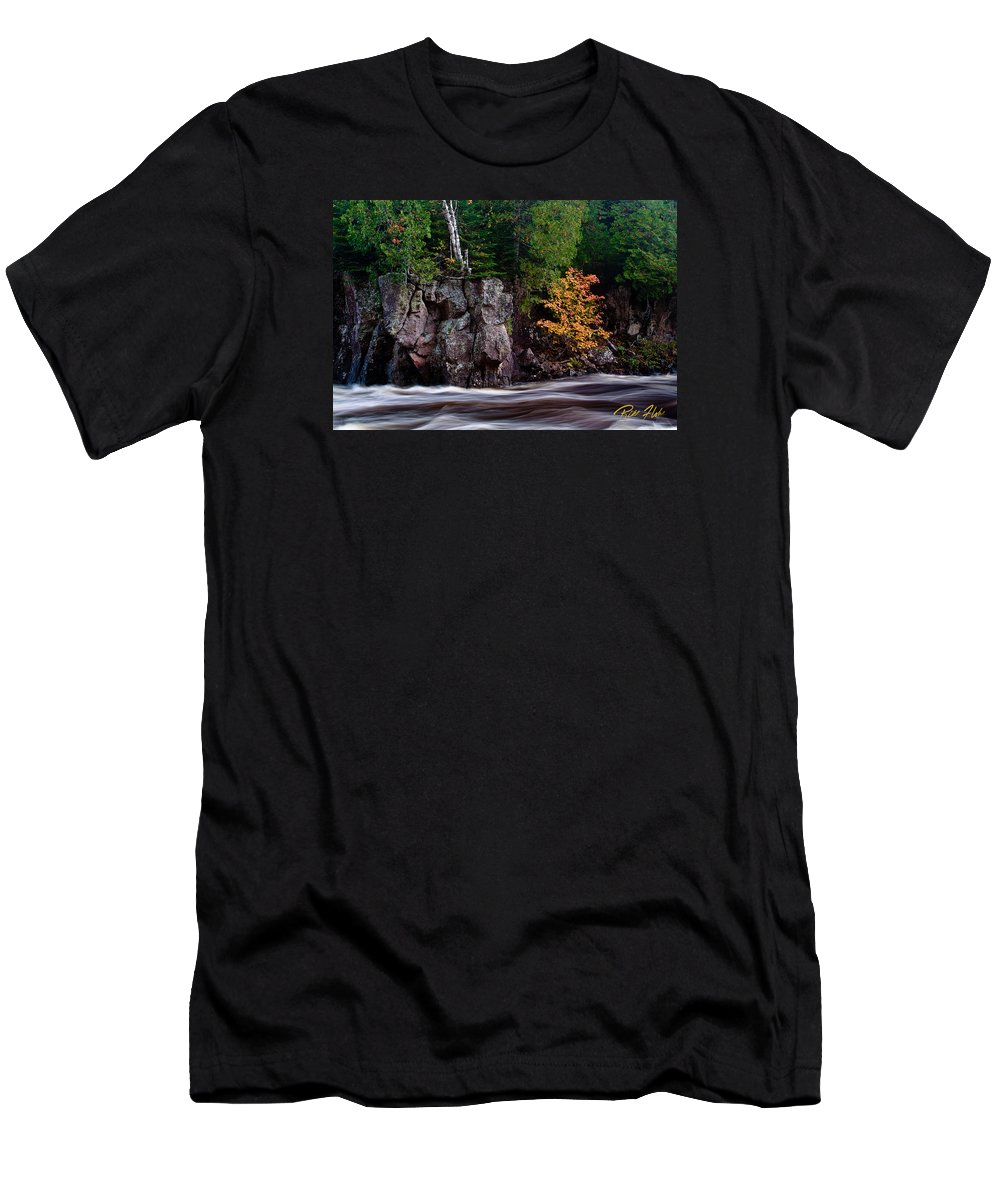 Autumn Men's T-Shirt (Athletic Fit) featuring the photograph Splash Of Fall Color by Rikk Flohr