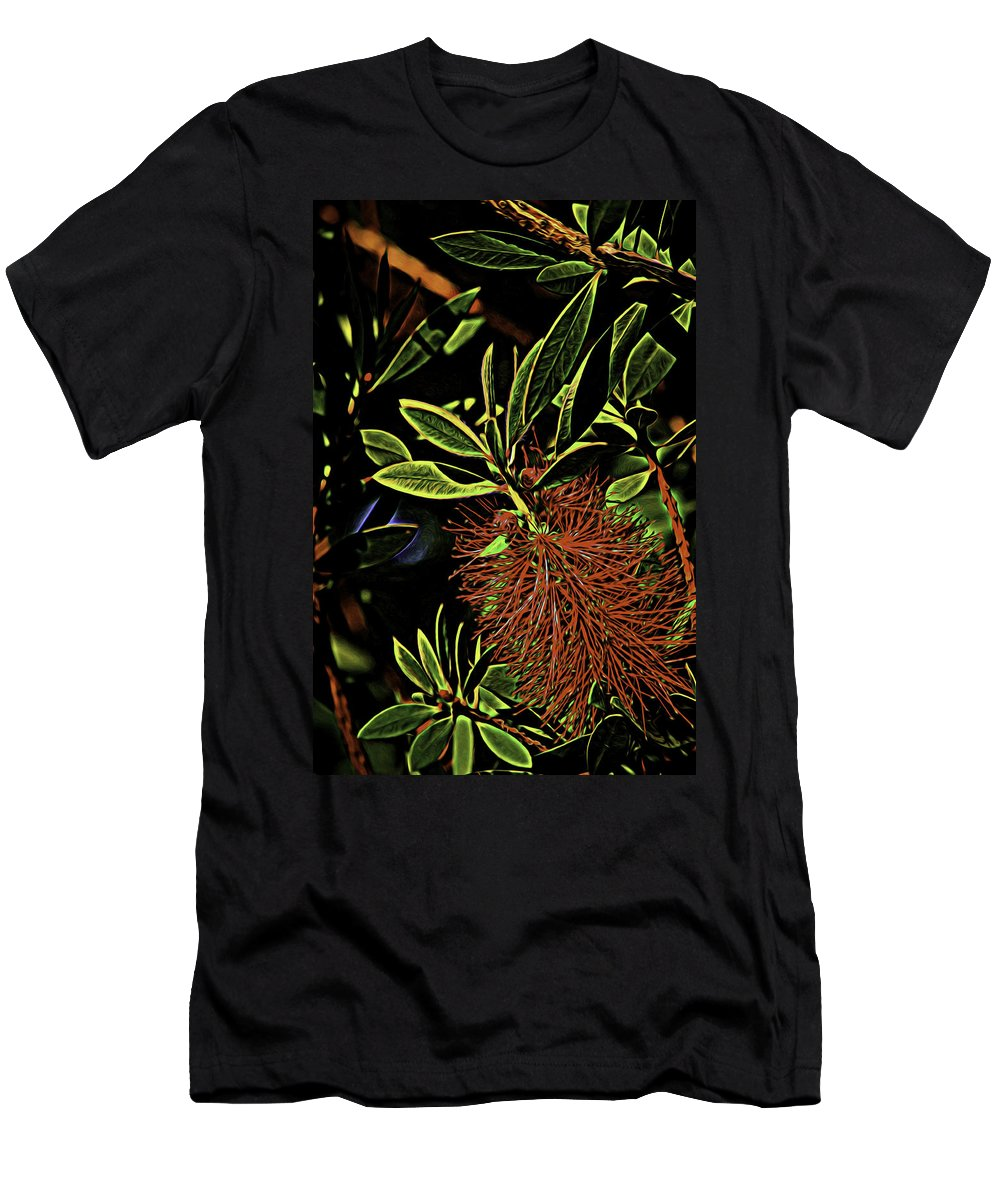 Flowers Men's T-Shirt (Athletic Fit) featuring the photograph Splash Of Red by Marshall Barth