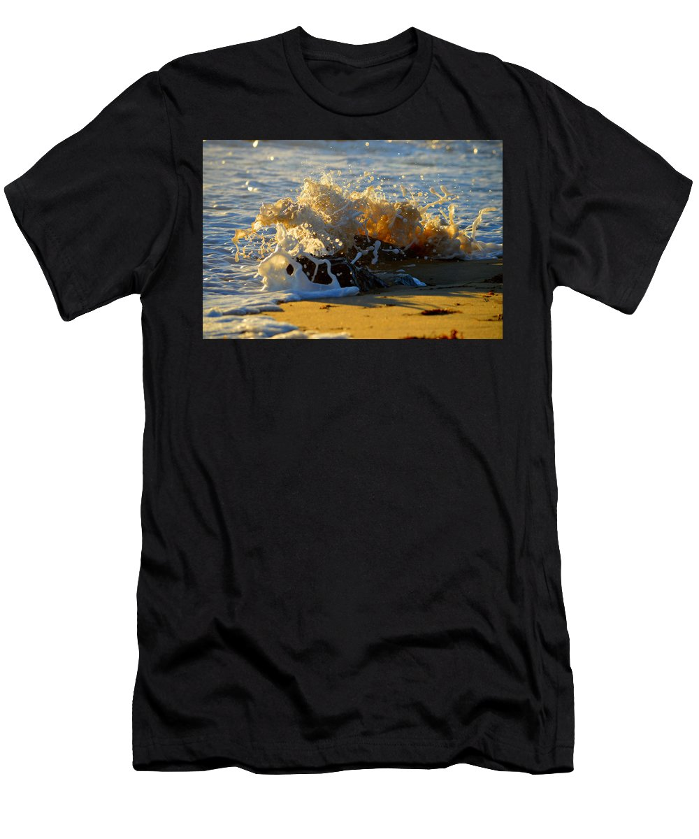 Ocean Men's T-Shirt (Athletic Fit) featuring the photograph Splash Of Summer - Cape Cod National Seashore by Dianne Cowen