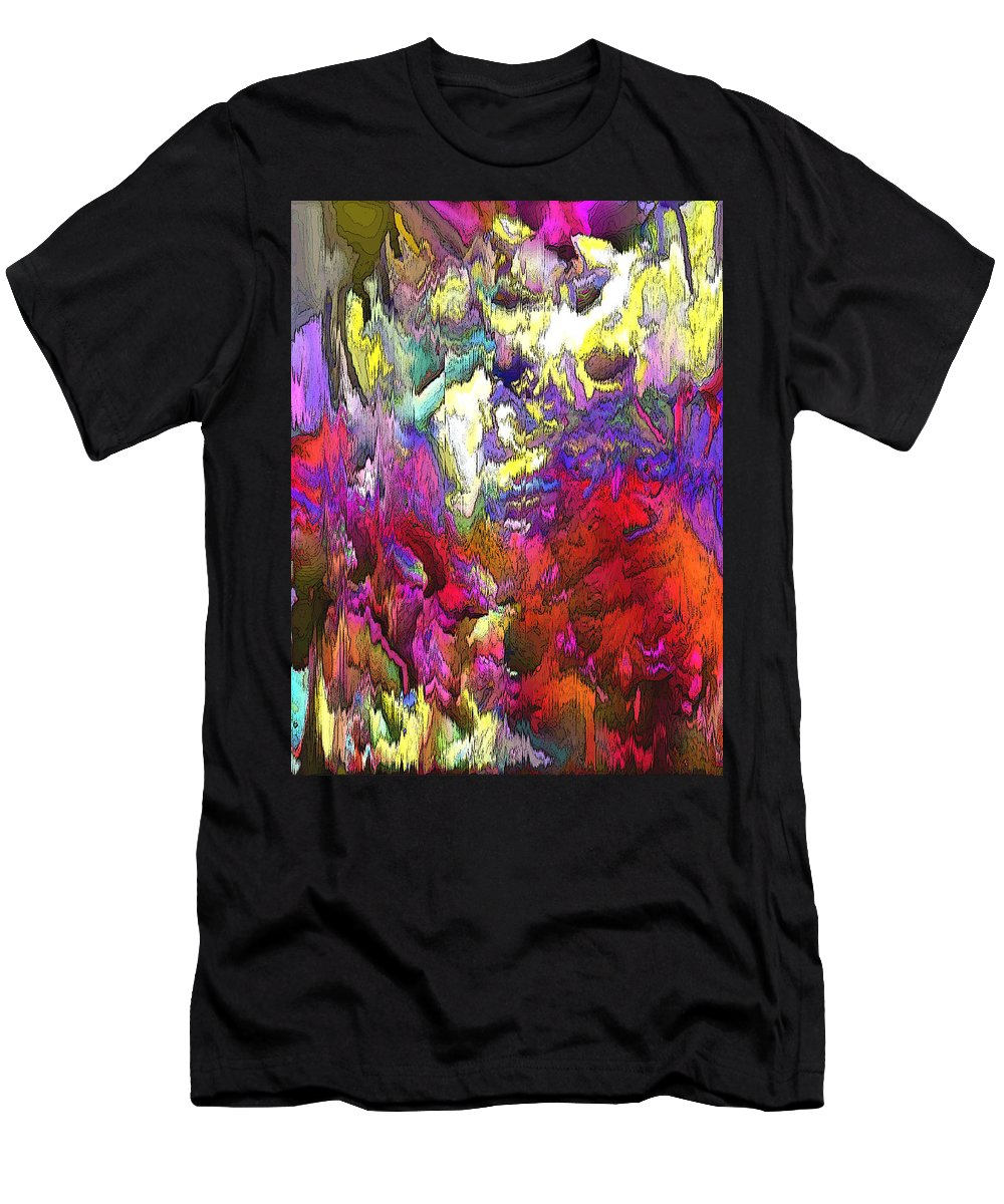Abstract Men's T-Shirt (Athletic Fit) featuring the digital art Splash Reborn by Ian MacDonald