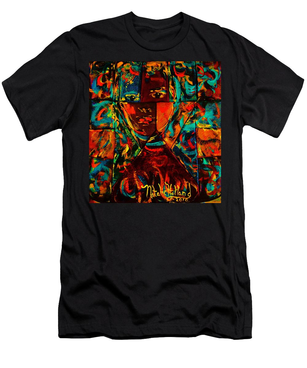 Abstract T-Shirt featuring the mixed media Split Personality by Natalie Holland