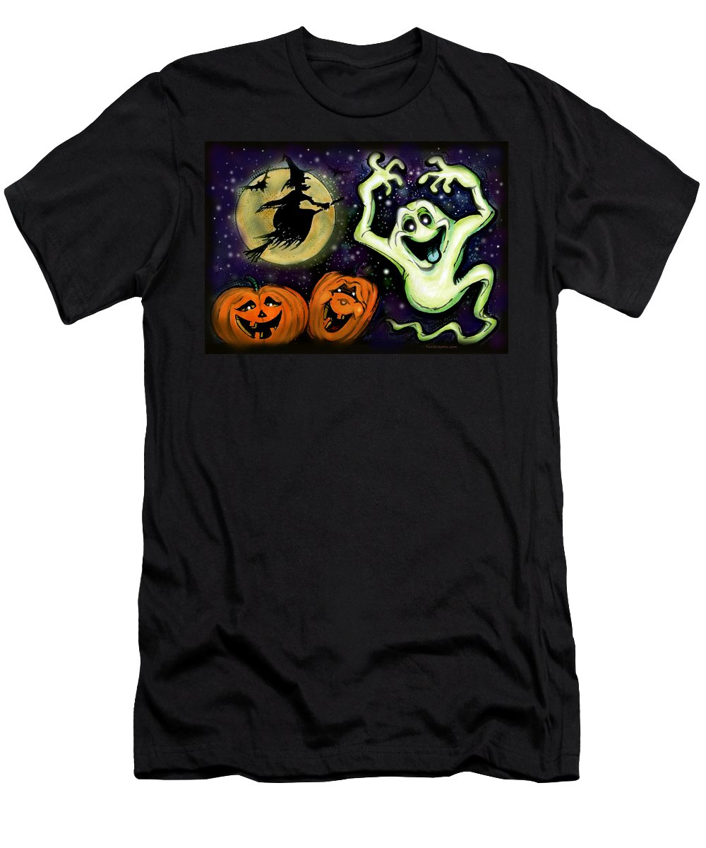 Halloween Men's T-Shirt (Athletic Fit) featuring the painting Spooky by Kevin Middleton