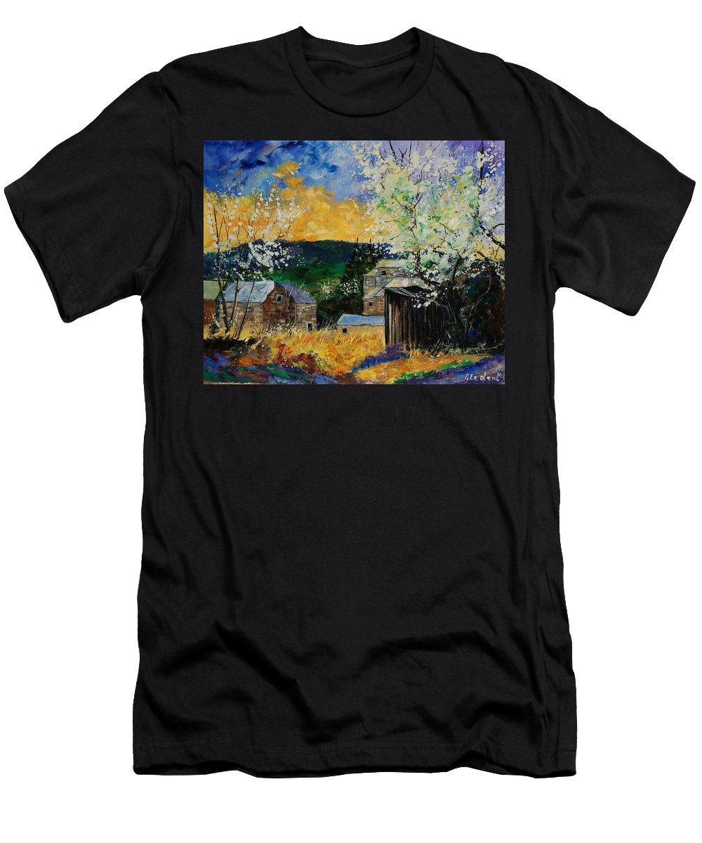 Spring Men's T-Shirt (Athletic Fit) featuring the painting Spring 45 by Pol Ledent