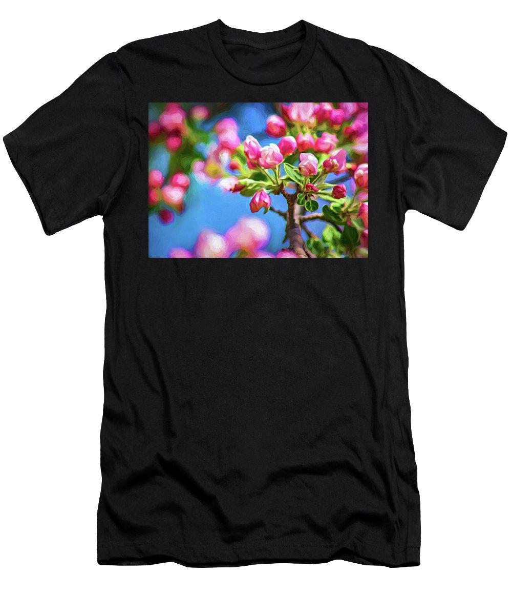 Steve Harrington Men's T-Shirt (Athletic Fit) featuring the photograph Spring Awakening 2 - Paint by Steve Harrington