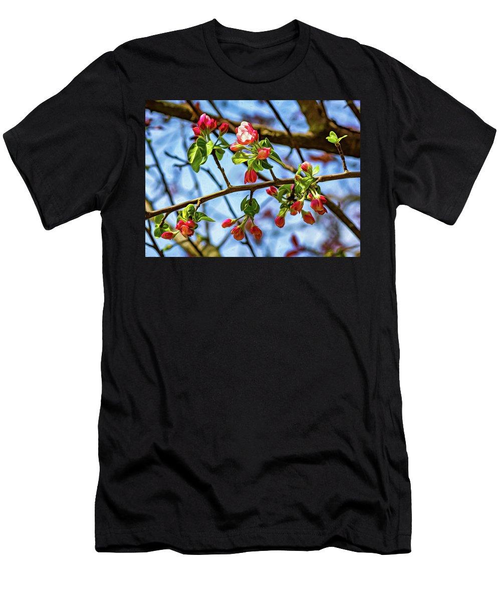 Steve Harrington Men's T-Shirt (Athletic Fit) featuring the photograph Spring Awakening 3 - Paint by Steve Harrington